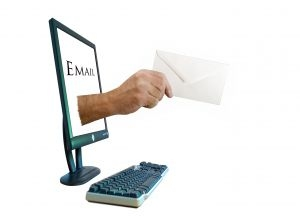 email-hand